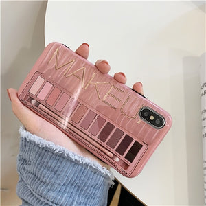 Makeup Eyeshadow Palette phone Case For iphone XS Max XR XS 11 11Pro Max for iphone 6 6s 7 8 plus soft silicone case cover