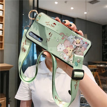 Load image into Gallery viewer, Phone Holder Case For Huawei P30 Mate 20 Pro P20 Lite Honor 8X Nova 3 3i 4 5 5i Soft TPU Neck Crossbody Wrist Strap Lanyard Case