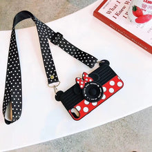 Load image into Gallery viewer, Cute 3D Cartoon Cute Minnie  Camera Case for iPhone 7 8 6 6S Plus X XS MAX XR Fundas Soft Silicone Cover Phone Cases