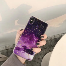Load image into Gallery viewer, Luxury Gold Foil Bling Marble Phone Case For iPhone X XS Max XR 11 Pro Max Soft TPU Cover For iPhone 7 8 6 6s Plus Case Coque