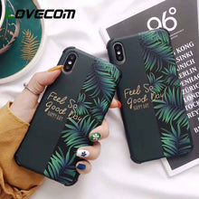 Load image into Gallery viewer, LOVECOM Shockproof Phone Case For iPhone 11 Pro Max XR XS Max 6 6S 7 8 Plus X Soft IMD Banana Leaf & Flower Fruit Back Cover