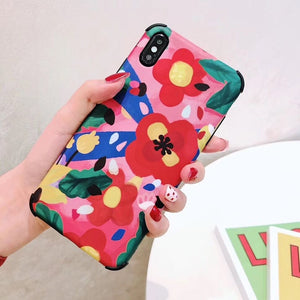 LOVECOM Shockproof Phone Case For iPhone 11 Pro Max XR XS Max 6 6S 7 8 Plus X Soft IMD Banana Leaf & Flower Fruit Back Cover