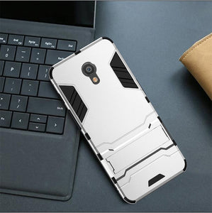 Armor Case For Meizu M6S M6T M6 Note M3 M5 M5s M5c Pro 6 Plus 15 Lite M15 E2 E3 A5 Phone Case Robot Rubber Transparent Cover Coque