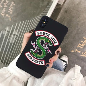 GYKZ American TV Riverdale Southside Serpents Phone Case For iPhone X 11 Pro XS MAX XR X 7 8 6 6s Plus Soft Silicone Back Cover