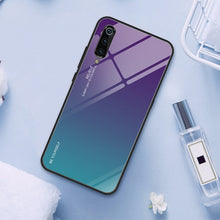Load image into Gallery viewer, Stained Phone Case for Xiaomi Mi 9 SE 8 Lite A1 A2 6 Gradient Tempered Glass Case for Xiaomi Mi 9T Pro Mix 3 Max 2S Pocophone F1