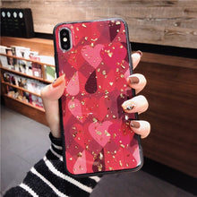 Load image into Gallery viewer, Luxury Bling Glitter Phone Cases For iPhone X 8 7 6 6S Plus Gold Foil Soft Silicone Cover For iPhone XS MAX XR Retro Flower Case