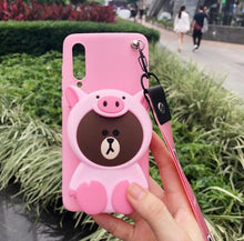 Load image into Gallery viewer, ORYKSZ 3D Cartoon Anime Totoro Bear Lanyard Coin Purse soft phone case For iPhone 11 Pro Max 5G 6 6s 7 8 Plus X XR XS Max Cover