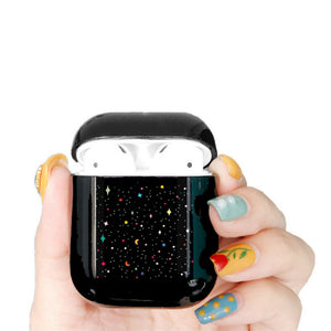 Cute Case For Apple airpods Case Cartoon Space Planet Astroaunt Bluetooth Earphone Case For Airpods 12 Headphone Black Hard Case
