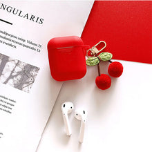 Load image into Gallery viewer, Cute Korean Silicone Case for Apple Airpods Case Accessories Bluetooth Earphone Cartoon Protective Cover Cherry Dog Key Ring
