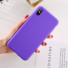 Load image into Gallery viewer, Moskado For iPhone 7 Phone Case Simple Solid Candy Color For iPhone 11 Pro X XR XS Max 6 6s 8 Plus Silicone Soft TPU Back Cover