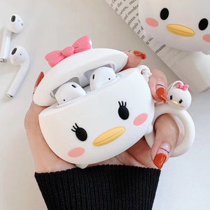 For AirPods silica gel Case Cute Japan Cartoon Earphone Cases For Apple Airpods 2 Funny Protect Cover with Finger Ring Strap