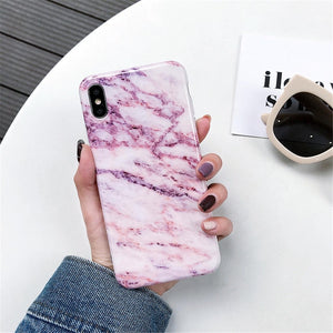 Luxury Marble Silicone Phone Case For iphone 11 Pro XS Max X XR 7 8 6 6S Plus Case Soft TPU Back Cover For iphone 8 7 Plus Funda