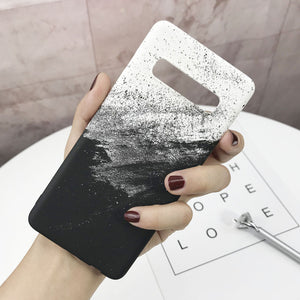 Hard PC Marble Phone Case For Samsung Galaxy S10 S9 S8 Plus S10E S7 Edge Note 9 8 10 Plus Case Cover Ultra Slim Plastic Shell