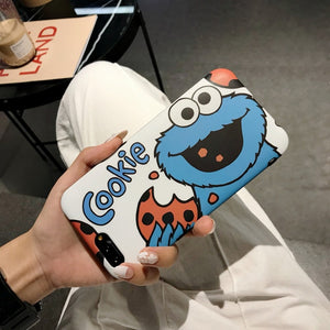 Cartoon Cute bracket Phone Case For iphone 11 Pro MAX X XR XS Max with Lanyard Soft silicone Matte Cover For iphone 7 8 6 s Plus