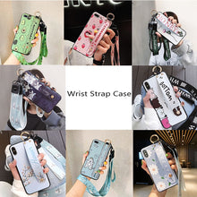 Load image into Gallery viewer, Wrist Strap Phone Case for iPhone XS Max X XR Cover iPhone 7 8 Plus 6 6S 11 Pro Max Case Luxury Neck Lanyard iphone 6s case
