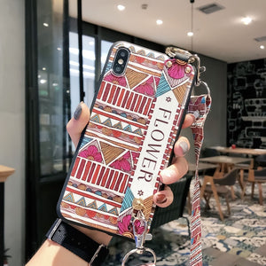 Wrist Strap Phone Case for iPhone XS Max X XR Cover iPhone 7 8 Plus 6 6S 11 Pro Max Case Luxury Neck Lanyard iphone 6s case