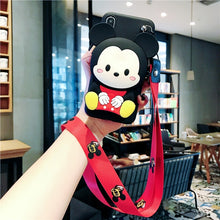 Load image into Gallery viewer, Cute Cartoon 3D Wallet Soft Silicone Case For iPhone11 pro max X XR XS Max 8 7 6 6S Plus for xiaomi 6 8 9 REDMI 5 7 NOTE 5 7 PRO