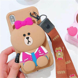 Cute Cartoon 3D Wallet Soft Silicone Case For iPhone11 pro max X XR XS Max 8 7 6 6S Plus for xiaomi 6 8 9 REDMI 5 7 NOTE 5 7 PRO