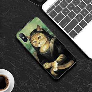 Moskado Funny Art Abstract Phone Case For iPhone 11 Pro X XR XS Max 7 8 6 6s Plus 5 5s SE 10 Silicone Statue Soft TPU Back Cover