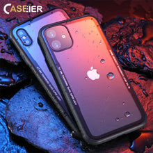 Load image into Gallery viewer, CASEIER Tempered Glass Phone Case For iPhone 11 Pro Max Cases For iPhone X XS Max XR 7 8 6 6s Plus Case Funda Cover Accessories