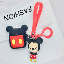 Load image into Gallery viewer, For airpods Case Cute Cat Cartoon Protective Cover with Lovely lanyard silicon cover For air pods 2 Wireless Earphone Case capa