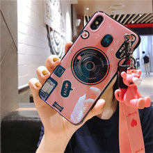 Load image into Gallery viewer, For Huawei Honor 8 Honor 9 Lite Case Retro Camera 3D Toy Stand Holder Soft Phone Case For Huawei Honor 10 Honor 6X 7A 7C 7X 8X