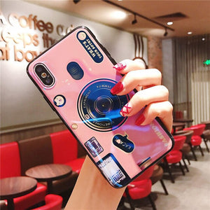 For Huawei Honor 8 Honor 9 Lite Case Retro Camera 3D Toy Stand Holder Soft Phone Case For Huawei Honor 10 Honor 6X 7A 7C 7X 8X