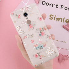 Load image into Gallery viewer, USLION 3D Flower Phone Case For Xiaomi POCOPHONE F1 8 8 SE 6 6X Mix 2 Redmi 6 6 Pro 4X 5A 4 5 Plus Note 4 5 4X 5A Soft TPU Cover