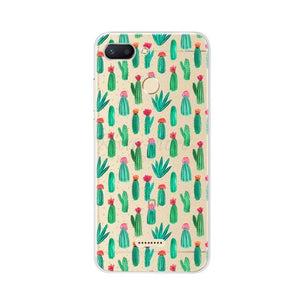 for Xiaomi Redmi 6 Case Redmi 6 Case Cover Soft Silicone Pattern Back Cover on for Coque Redmi6 Xiaomi Redmi 6 Phone Case Bumper