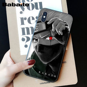 Babaite Hokage Naruto Kakashi Japan anime Soft Silicone TPU Phone Cover for iPhone 6S 6plus 7 7plus 8 8Plus X Xs MAX 5 5S XR