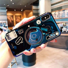 Load image into Gallery viewer, For Huawei Y6 Y7 Prime 2018 Case Blue Ray Camera Stand Holder Silicone Cover For Huawei Y5 Y6 Y7 2017 Y9 2018 Y6 Pro 2019 Coque