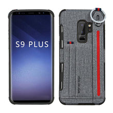 Load image into Gallery viewer, S10 Lanyard cord Card Pocket Back Case for Samsung Galaxy s8 S9 S10 plus Back Protect Case for Samsung Galaxy Note 8 Note 9 S10e