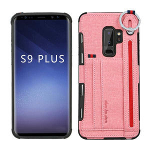 S10 Lanyard cord Card Pocket Back Case for Samsung Galaxy s8 S9 S10 plus Back Protect Case for Samsung Galaxy Note 8 Note 9 S10e