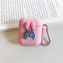 Load image into Gallery viewer, Wireless Bluetooth Headset IOS Charging Box Silicone Earphone Cover Protective Case With Hook For Airpods Iphone Cartoon TPU