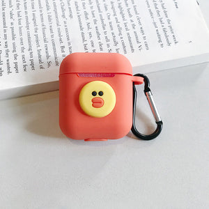 Wireless Bluetooth Headset IOS Charging Box Silicone Earphone Cover Protective Case With Hook For Airpods Iphone Cartoon TPU