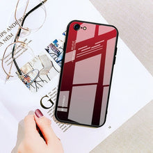 Load image into Gallery viewer, Gradient Tempered Glass Case For iphone 6 6S 7 8 Plus on the For iphone X XS XR XS Max Phone Cases Cover Protective Fundas