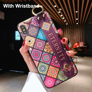 Fundas Lanyard Tassels Holder Stand Phone Case Xiaomi Redmi Note 6 5 Pro 5A Silicone Wristband Case Coque Xiaomi Redmi 4X Cover