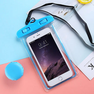 "FLOVEME Waterproof Smartphone Case For Phone Pouch Bag 6.0"" Underwater Luminous Phone Case For iPhone XR Huawei Xiaomi Universal"