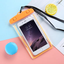 "Load image into Gallery viewer, FLOVEME Waterproof Smartphone Case For Phone Pouch Bag 6.0"" Underwater Luminous Phone Case For iPhone XR Huawei Xiaomi Universal"