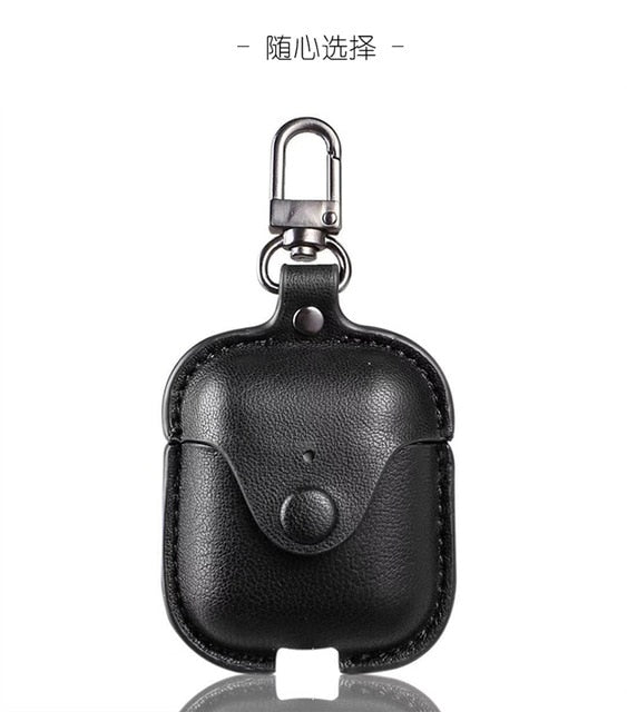 Headphone Case For Airpods Leather Case Luxury Genuine Cover For Apple AirPods 2 Case Air pods Earpods Accessories Earphone Bags
