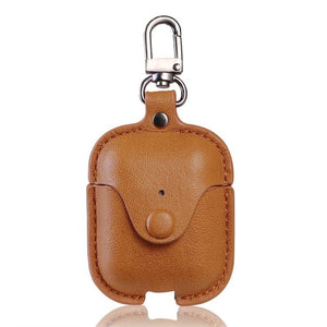 Soft Case For Apple Airpods 2 Accessories For iPhone AirPods Case Key Luxury Leather Storage Bag Earphone Cover With Keychain