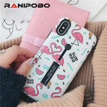 Load image into Gallery viewer, For iphone 6 6s 7 8 Plus X Marble Flower Flamingo Soft silicon Ring Phone Case For iphone 6 Case Hide Stand Holder Cover