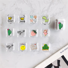 Load image into Gallery viewer, Pink Smile Strawberry Hard PC Crystal Cover For Airpods Cases Transparent Cactus Earphone Case For Apple Air Pods Headphone Boxs