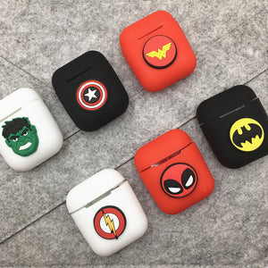 Cartoon Soft Silicone Earphone Case For Apple Airpods Shockproof Cover For Apple AirPods Ultra Thin Air Pods Protector Case