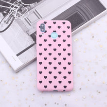 Load image into Gallery viewer, For Xiaomi Mi Redmi Note 5 6 7 8 9 lite Pro Plus Polka Dot Striped Heart Burgundy Candy Silicone Phone Case Capa Fundas Coque