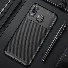 Load image into Gallery viewer, Raugee Case For Samsung A40 Case Cover Luxury Carbon Fiber Bumper Soft TPU Silicon Phone Case For Samsung Galaxy A40 A50 A20 A30