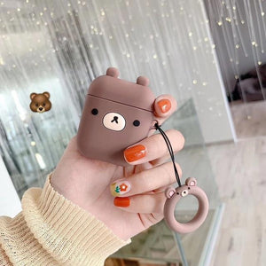 3D Cartoon Cases for AirPods Case Cute Crocodile Rabbit Earphone Case for Apple Airpods 2 Silicone Headphone Cover for Air Pods