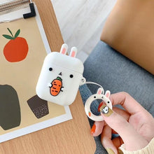 Load image into Gallery viewer, 3D Cartoon Cases for AirPods Case Cute Crocodile Rabbit Earphone Case for Apple Airpods 2 Silicone Headphone Cover for Air Pods