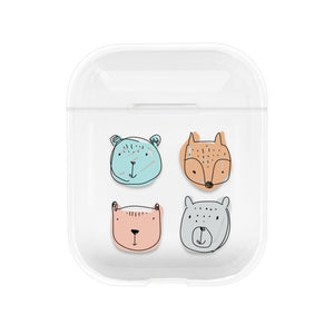 Cartoon Earphone Cases For Airpods 2 1 PC Cute Cover For Apple Airpods Air Pods Transparent Pouch Bluetooth Earphone Accessories