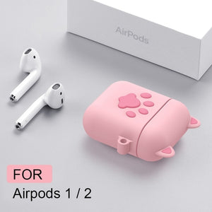 For Airpods 2 Case Silicone Stitch Cartoon Cover for Apple Air pods Cute Earphone Case 3D Headphone case for Earpods Accessories